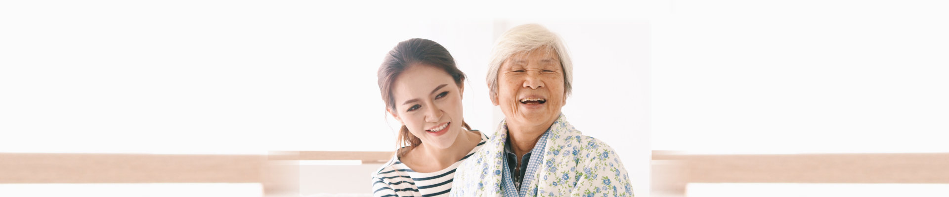 senior and beautiful woman smiling